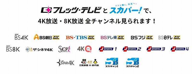 フレッツテレビ4K8K放送