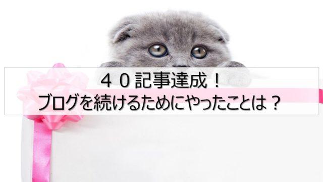 40記事達成