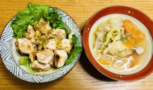 【小さい子供向け】ねぎ胡麻ポン酢チキンと野菜ポトフの作り方をご紹介【週末料理男子レシピ】