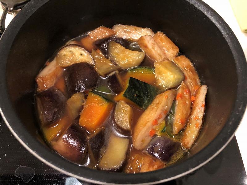 夏野菜煮物10分