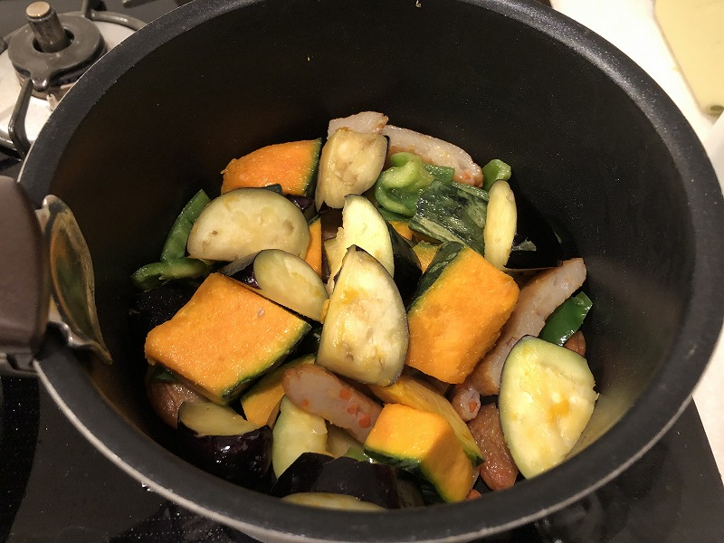 野菜の煮物炒め