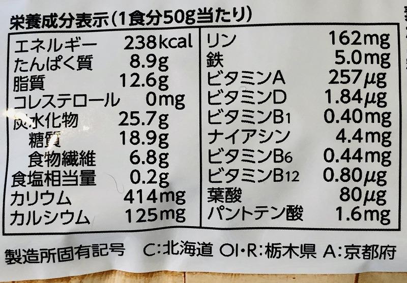 フルグラ糖質オフ栄養表