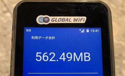 グローバルWiFi利用データ合計