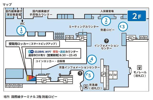 羽田空港国際ターミナル受取