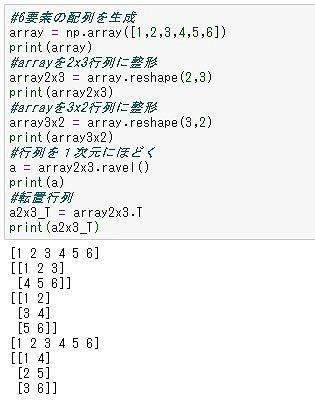 配列の形変換