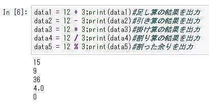 Python基本文法の四則演算