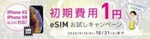 eSIMお試しキャンペーン