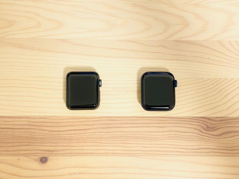 アップルウォッチ画面サイズ比較
