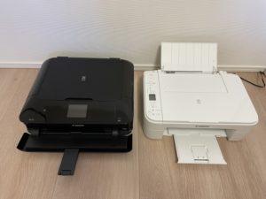 MG7730とTS3330印刷時の大きさ比較