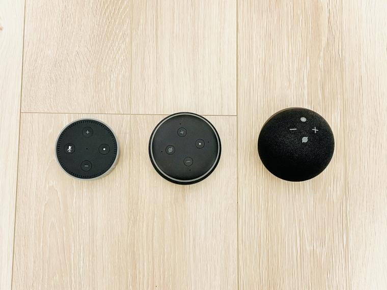 歴代Echo Dotと比較してみた!