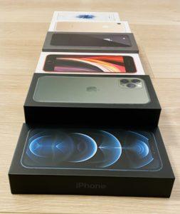 iPhone12Proの箱は薄い