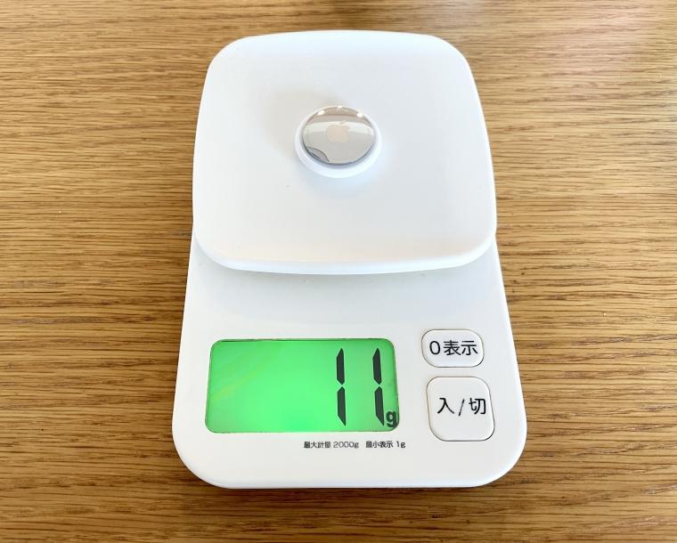 AirTagの重さ