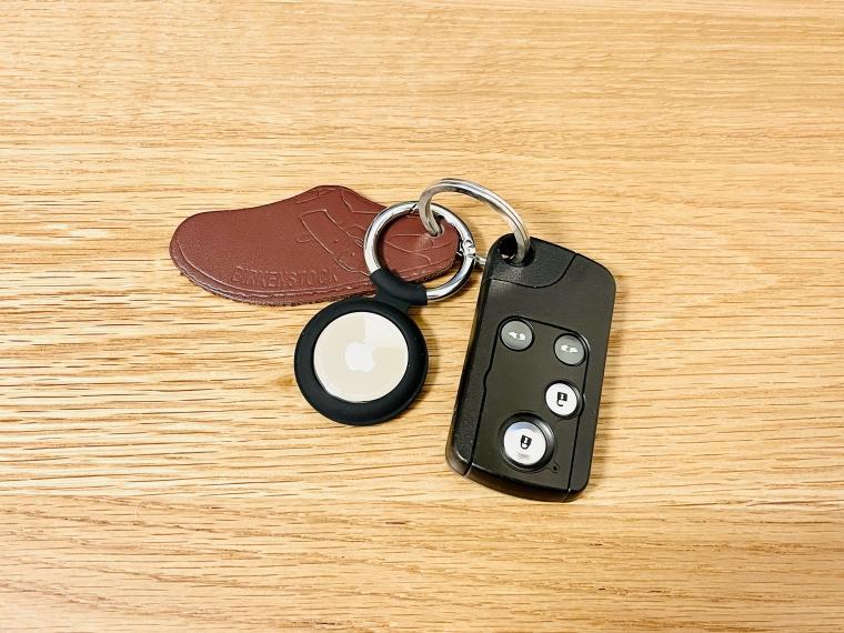 AirTagを車の鍵につけてみた