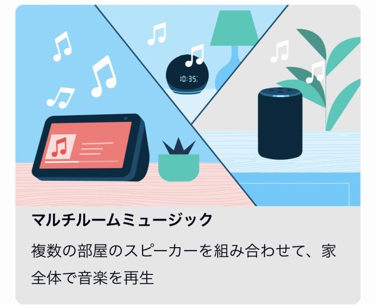 複数のAlexa端末で音楽を再生する